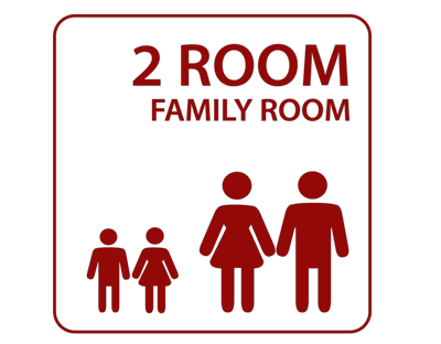 2-room family lounge in Bavaria at Stadthotel Kachelofen in Krumbach
