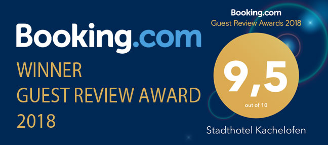 booking.com winner guest review award Stadthotel Kachelofen