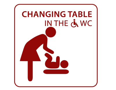 Changing table in Restaurant Kachelofen in Krumbach